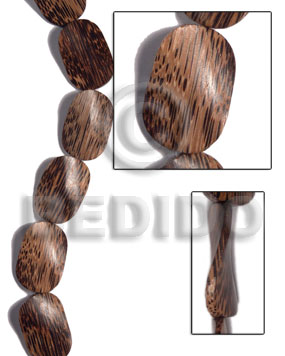 Patikan Wood Twist 30 mm Brown Beads Strands Wood Beads - Twisted Wood Beads BFJ484WB