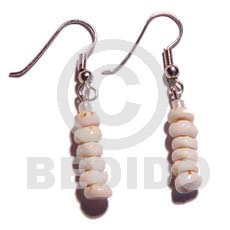 Puka Shell Dangling Tiger Shell Earrings BFJ675ER