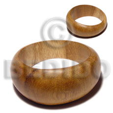 Solid Coated Graduated Robles Wood 65 mm Inner Diameter / Outer 105 mm Bangles - Wooden Bangles BFJ091BL