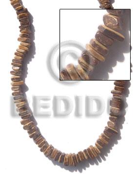 Tiger 16 inches Coconut Square Cut 6 mm Natural Coco Square Cut Beads BFJ001CSQ