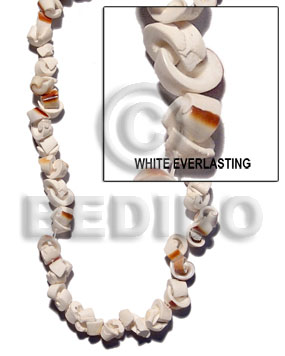 White 16 inches Luhuanus Shell Natural Shell Crazy Cut Shell Beads BFJ066SPS