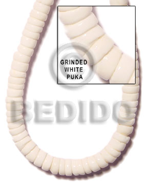White 16 inches Puka Shell Puka Shell Necklace BFJ001PK
