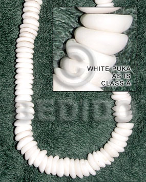 White 18 inches Puka Shell Natural Puka Shell Necklace BFJ002PK