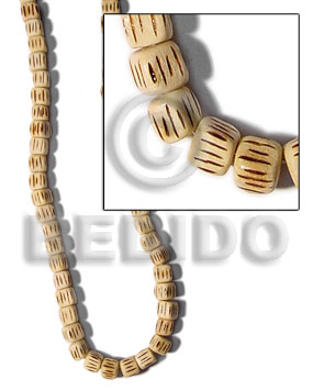 White Wood Burning Dice Natural Wood Beads Bamboo Wood Burning BFJ118WB