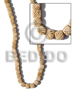 White Wood Burning Dice Natural Wood Beads Bamboo Wood Burning BFJ119WB