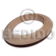 White Wood Natural 70 mm inner diameter Bangles - Plain BFJ629BL