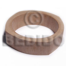 White Wood Natural 70 mm inner diameter Bangles - Plain BFJ633BL