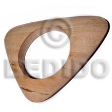 White Wood Natural 70 mm inner diameter Bangles - Plain BFJ638BL