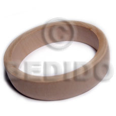 White Wood Natural 70 mm inner diameter Bangles - Plain BFJ641BL