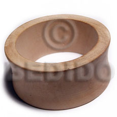 White Wood Natural 70 mm inner diameter Bangles - Plain BFJ650BL