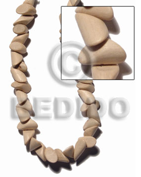 White Wood Nuggets Natural 20 mm White Beads Strands 16 inches Wood Beads - Nuggets Wood Beads BFJ411WB