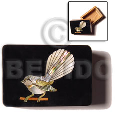 Wood Box Inlaid Bird Large Jewelry Box BFJ007JB