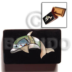 Wood Box Inlaid Dolphin Medium Jewelry Box BFJ008JB