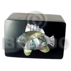 Wood Box Inlaid Fish Medium Jewelry Box BFJ001JB