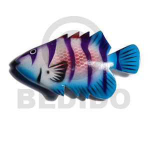 Wood Hand Painted Fish 80 mm Refrigerator Magnets BFJ008RM