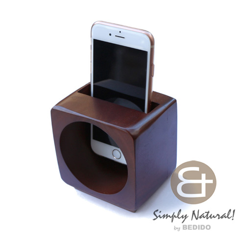 Wood Stained Coated Speaker Box Brown IPHONE ANDROID ACCESSORY BFJ130GD