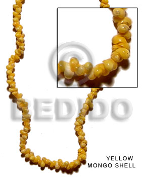 Yellow 16 inches Mongo Yellow Shell Shell Whole Shell Beads BFJ021SPS
