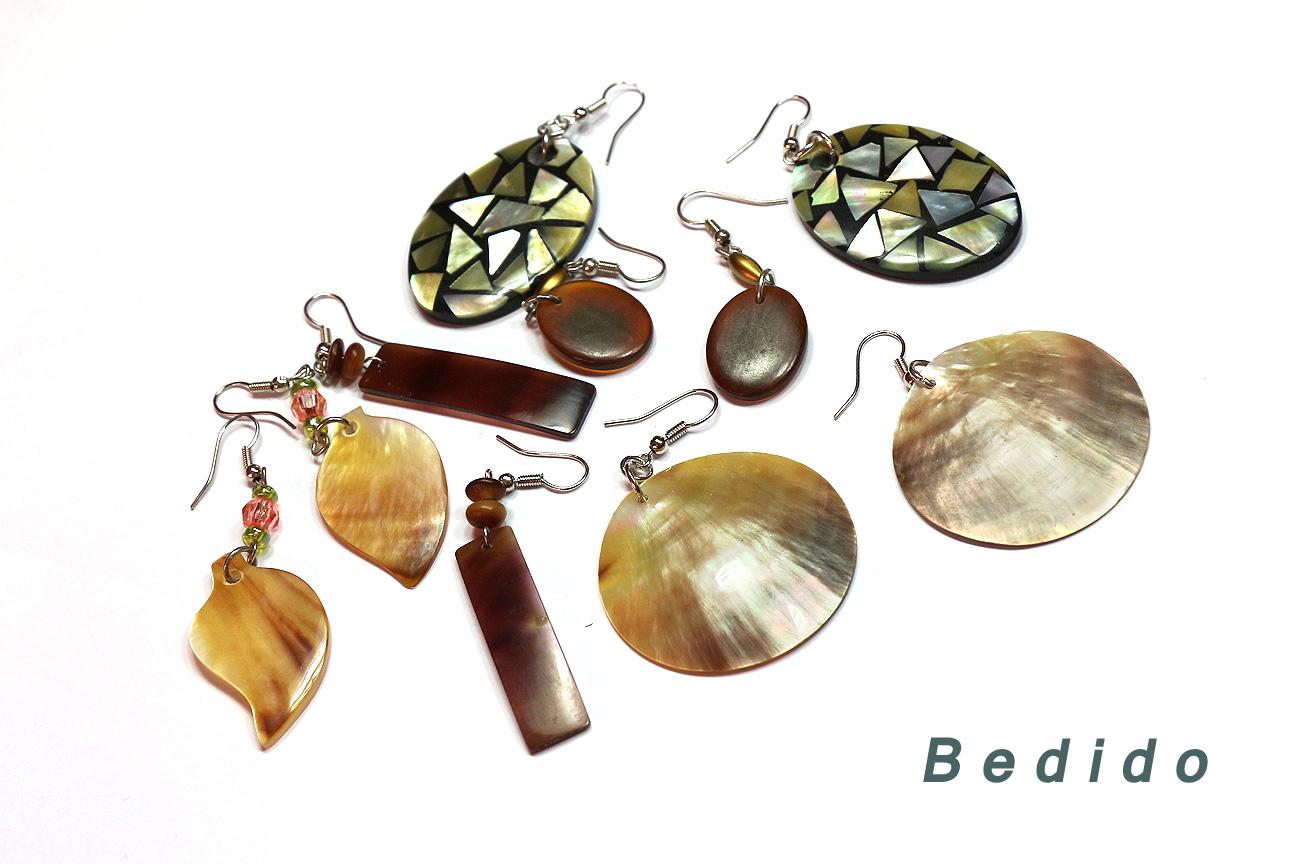 Polished Shell Earrings